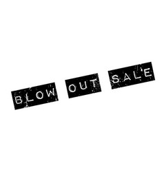 Blow out sale rubber stamp vector