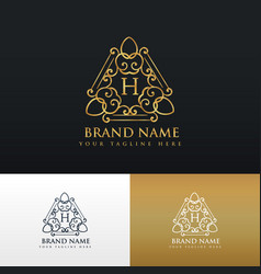 Brand logo design in luxury vintage style vector