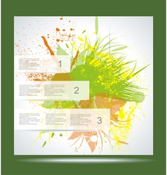 Brochure Layout Design Template Green abstract vector image vector image