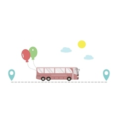 Bus Route Icon vector image vector image