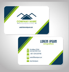 creative corporate business card templates vector image