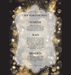 decorative new years eve menu vector image