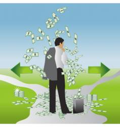 eco businessman vector image vector image