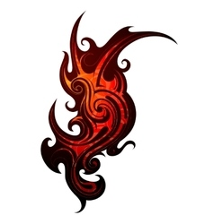 Fire flame tattoo vector image