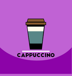 Flat icon design collection cappuccino to vector