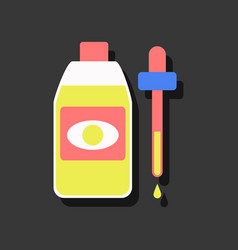 Flat icon design collection eye drops icon in vector