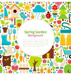 Flat Spring Garden Background vector image