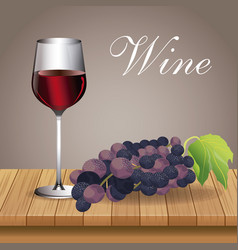 Glass cup wine grape beverage image vector