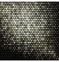 golden mosaic banner vector image vector image