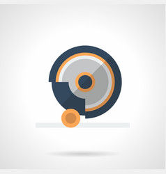 Grindstone disk flat color icon vector