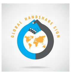 Handshake abstract sign vector image