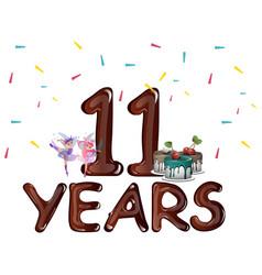 Happy 11th birthday vector