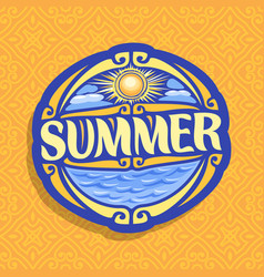 logo for summer season vector image