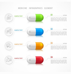 medical pill template icons vector image vector image