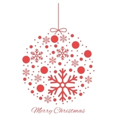 Merry Christmas ball ornament vector image vector image