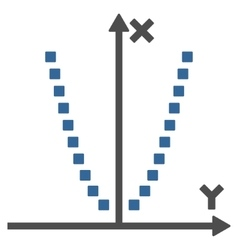 Parabole plot toolbar icon vector