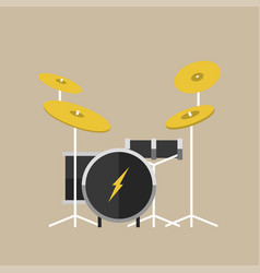 Percussion musical instruments drumkit in vector