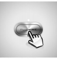 Push me button vector image