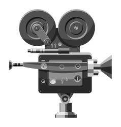 Retro camera icon gray monochrome style vector