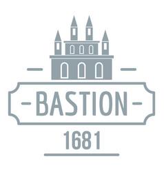 Royal bastion logo simple gray style vector