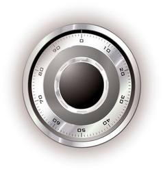 safe dial white vector image