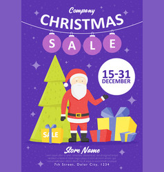 sale holiday website banner templates christmas vector image vector image