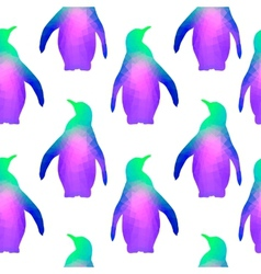 Seamless background with geometric penguins vector