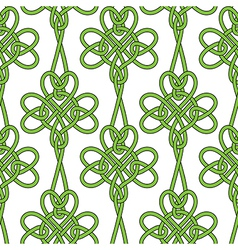 Seamless flower shamrock clover leaves vector image vector image