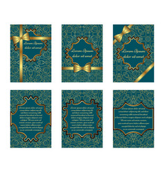 Set of delicate greeting cards vector