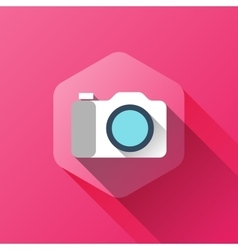 simple of camera icon in flat style vector image vector image