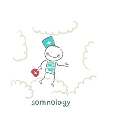 somnology flying in the sky in the clouds vector image vector image