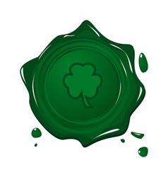 Stamp with clover for Saint Patrick day vector image vector image