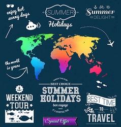 Summer design Set of typographic labels for summer vector image