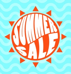 Summer sale text lettering vector image vector image