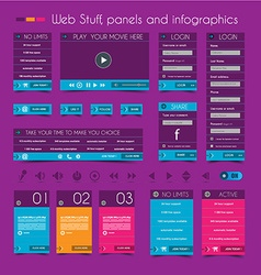 Web Design Stuff price panels vector image