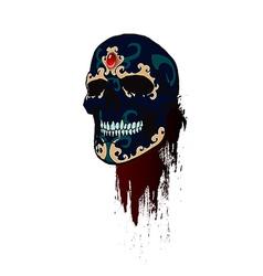 skull 06 vector image