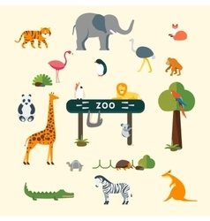 Animals and zoo vector