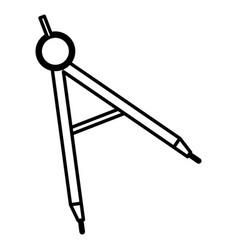 compass supply school icon vector image