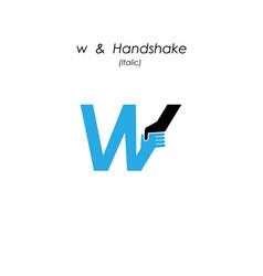 Creative w- letter icon abstract logo design vector