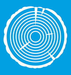 Tree ring icon white vector