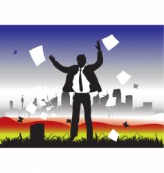 eco businessman vector image