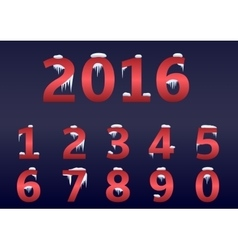 Red number set vector