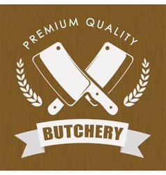 Butchery or butcher theme vector