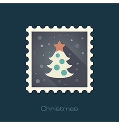 Christmas tree stamp vector