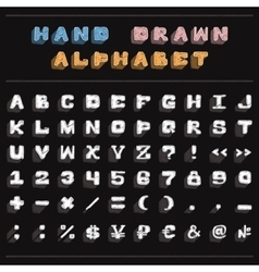 White chalk handwritten alphabet vector