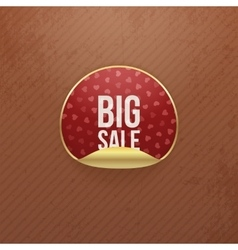 Valentines day big sale red round sticker vector