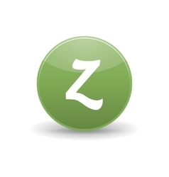 Zerply icon simple style vector