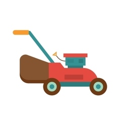Gardening lawn mower groundworks tool machine vector