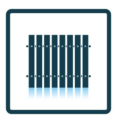 Icon of construction fence vector