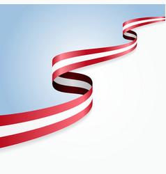 Austrian flag background vector image